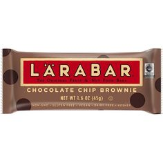 LARABAR Fruit Nut Food Bar, Chocolate Chip Brownie, Gluten Free, 16... (26 CAD) ❤ liked on Polyvore featuring food and filler