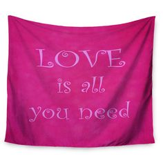 """East Urban Home Love is all you need by Iris Lehnhardt Wall Tapestry Size: 60"""" H x 80"""" W"""