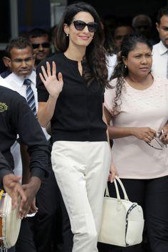 062979e22041 Amal Clooney arriving in the Maldives to represent former president Mohamed  Nasheed Mohamed Nasheed