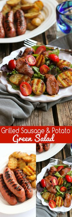 Grilled Sausage and Potato Green Salad…This healthy recipe has all the flavors of a summertime barbecue! 292 calories and 9 Weight Watchers SmartPoints