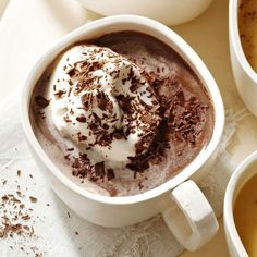 Our Double Hot Chocolate is the perfect cozy comfort drink. More hot chocolate recipes: http://www.bhg.com/recipes/drinks/chocolate-drinks/hot-chocolate/?socsrc=bhgpin101513doublehotchocolate&page=5