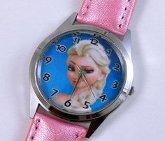 Procuffs Princess Elsa Frozen Pink Watch Disney Kids Leather Band This beautiful kids watch has Princess Elsa logo on the face with pink leather bands. Makes a great gift for Frozen Disney fans. http://www.comparestoreprices.co.uk/childrens-gifts/procuffs-princess-elsa-frozen-pink-watch-disney-kids-leather-band.asp