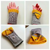 These sporty Fingerless Mittens with a pocket are both warm and super practical!