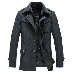 Cheap pea coat, Buy Quality pea coat fashion directly from China fashion pea coat Suppliers: Mens Overcoat Winter Wool Coat Slim Fit Jackets Fashion Outerwear Warm Man Casual Jacket Overcoat Pea Coat Plus Size M-XXXL Mens Wool Trench Coat, Mens Wool Coats, Winter Trench Coat, Tweed Coat, Pea Coat Men, Suit Overcoat, Terno Casual, Casual Suit, Slim Fit Jackets