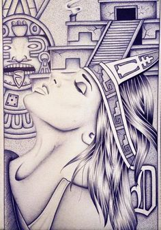Azteca Chicano Drawings, Chicano Art, Cholo Style, Latino Art, Lowrider Art, Mexican Heritage, Aztec Warrior, Aztec Art, Tattoo Flash Art