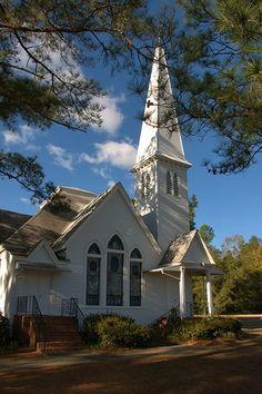 Hephzibah GA Richmond County Southern Methodist Church Photograph Copyright Brian Brown Vanishing South Georgia USA 2014