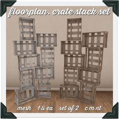 floorplan. crate stack set