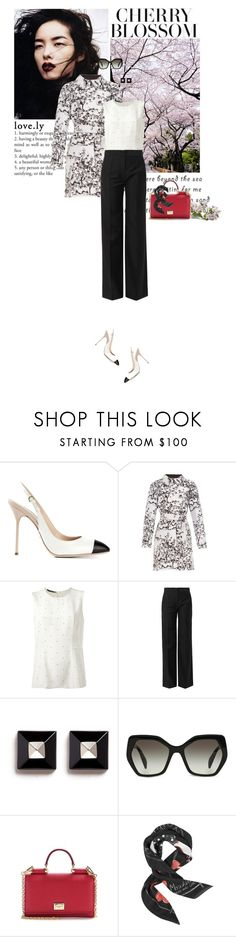 """""""Blossom"""" by fashionbrownies ❤ liked on Polyvore featuring Sergio Rossi, Diane Von Furstenberg, Calvin Klein Collection, Balenciaga, Givenchy, Prada, Dolce&Gabbana and Moschino"""