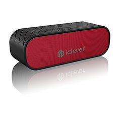 Two Subwoffer iClever BoostSound 20W Portable 42 Bluetooth Speakers IPX5 Water Resistant Dual Passive Driver for Outdoor Up to 12H Playback Red * Want additional info? Click on the image. #HomeAudio