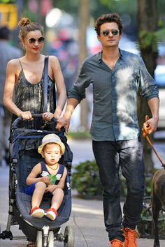 Orlando Bloom and Miranda Kerr Out with Flynn