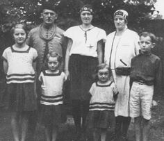 Rodina Novákových. Family of Novák, members of resistance, executed by Nazis in Mauthausen on October 24, 1942 (except oldest daughter - in the middle - she was married to German).