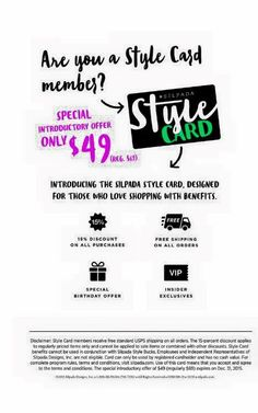 Style card details- you need this in your life!