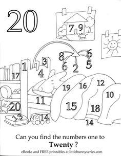 Number 20 Seek and Find PDF