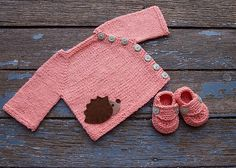 Ravelry: -stella-'s Prickly Peach Cutest little girl sweater EVER