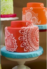 Mehndi cakes I did for our book.- from the INSANELY talented Mary smith at charm city cakes west!