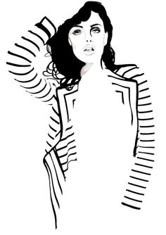 stripes... fashion illustration by judith van den hoek
