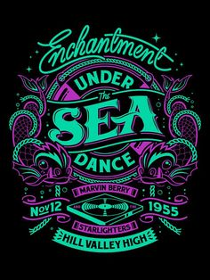 """Enchantment Under the Sea Dance,"" typography poster designed by Simon Pearce, via Behance. Typography Letters, Typography Poster, Graphic Design Typography, Lettering Design, Logo Design, Japanese Typography, Graffiti Lettering, Type Design, Web Design"