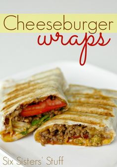 Cheeseburger Wraps on SixSistersStuff.com