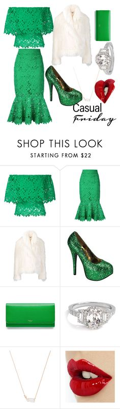 """""""Green Party❤"""" by kimjiyeon167 on Polyvore featuring Bambah, STELLA McCARTNEY, Bordello, Mulberry and Kendra Scott"""