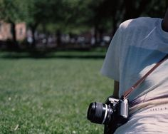 Mattias with 'Nice' camera strap on a Nikon F3HP with 35mm f/1.4. Go to larsdanielgustavsson.tumblr.com for more pictures. #handmade #leather #camerastrap #camera #film