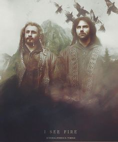The hobbit, Fili and Kili, I see fire Legolas, Thranduil, Tauriel, Hobbit 3, Hobbit Hole, Fellowship Of The Ring, Lord Of The Rings, Lotr, The Misty Mountains Cold