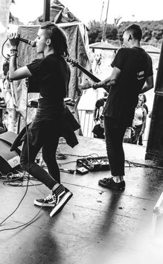 Pvris. Lynn Gunn and Alex Babinski.