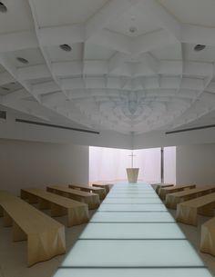 Capilla de un centro bodas en Saitama, Japón, obra del arquitecto Hironaka Ogawa