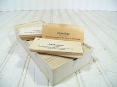 Vintage Vis-Ed English Vocabulary Flash Cards - Retro MadMen Business Era Career Success Collection 1050 Pieces - Black Words on Ivory Cards $34.00 by DivineOrders