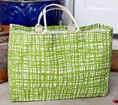 Green Plaid Open Tote by Two Loops ($9.98) perfect for a beach or diaper bag.