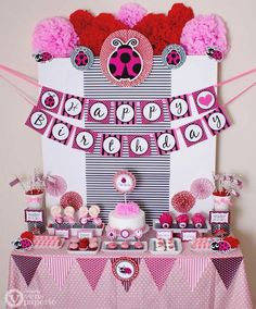 Pink Ladybug party