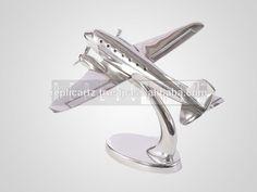 Modern Aluminium Aeroplane On Stand Small Metal Decorative Aircraft Model