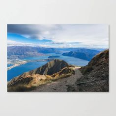 Mountain Nature Landscape Canvas Print Canvas Prints, Latest Generation, Mountains, Wall Art, Landscape, Water, Outdoor, Products, Water Water