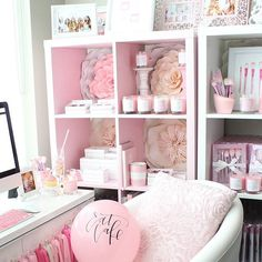 SLMissGlam's PINK space!!! Hope everyone is having a glamorous Thursday!!!Its almost {FRi-YAY}XO My Shop www.slmissglambeauty.com  #slmissglambeauty