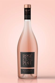 Rosé Sil Vous Plaît by Pulenta Estate on Packaging of the World Creative Package Design Gallery Wine Bottle Design, Wine Label Design, Wine Bottle Labels, Tequila, Whisky, Champagne Label, Bottle Packaging, In Vino Veritas, Sparkling Wine