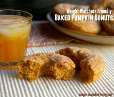 healthy baked pumpkin doughnuts for weight watchers 148 calories, 4 WWPP http://simple-nourished-living.com/2014/09/healthy-baked-pumpkin-doughnuts-recipe/
