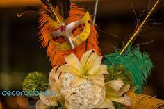 Decoración carnaval - centro de mesa