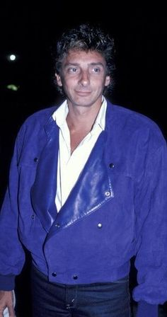Barry Manilow Sighting at Nicky Blair's - August 1986 I Write The Songs, Barry Manilow, Love Him, My Idol, Leather Jacket, Music, August 13, 50 Shades, Life