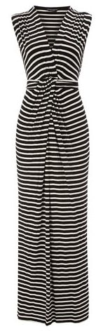 Black/Ivory Wrap Maxi Dress