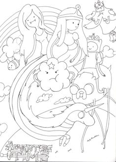 kids adventure time coloring pages - Adventure Time Coloring Book