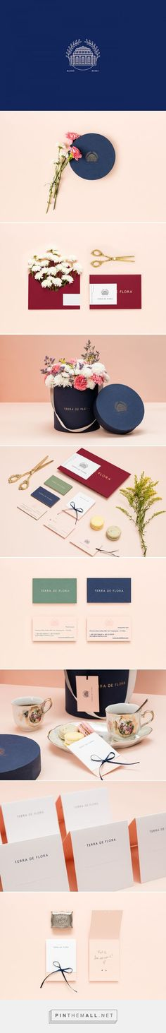 Terra de Flora on Behance... - pretty stationery and brand design - feminine graphic design with a modern touch.