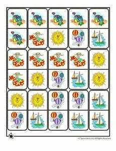 summer printable dominoes 231x300 Summer Worksheets for Kids