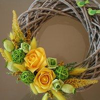 Prodané zboží uživatele jircice | Fler.cz Ornament Wreath, Grapevine Wreath, Paste, Grape Vines, Flower Arrangements, Decoupage, Projects To Try, Wreaths, Seasons
