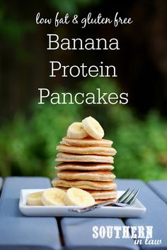 This Healthy Banana Protein Pancakes Recipe is one you'll find yourself making over and over as it is so delicious! They are also low fat, gluten free, high protein, sugar free, clean eating friendly and so easy to make! Makes just a single serving, but easily doubled to serve more!