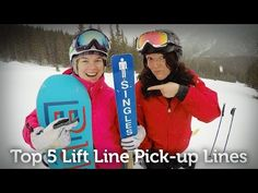 Pick-up Lines To Help You Find Love on the Lifts - Ski Resorts, Canadian Rockies, Pick Up Lines, Falling In Love, Skiing, Baseball Cards, Pickup Lines, Ski, Infatuation
