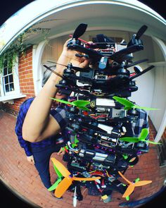 Who has quads... @ummagawd @charpu_fpv  Holy aliens @finalglideaus #hqprops #triblades #fpv #rotorriot #booom #rippingballs #olloclip #fisheye #impulseRC #alien by mrsteelefpv