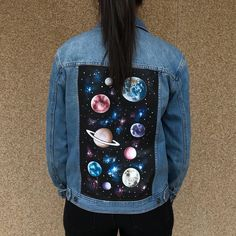 ENDLESS ROMACE  hand painted jeans jacket