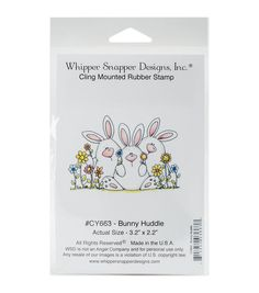 Whipper Snapper Designs Cling Stamp-Bunny Huddle
