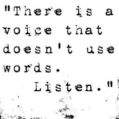 Do you really know how to listen?  Do you hear the voice that does not use words? www.liberatingdivineconsciousness.com/ListeningasaPortaltoDivineConsciousness