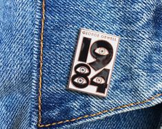 1984 Pin, George Orwell, Hard Enamel Pin, Jewelry, Art, Literature, Bookworm, Gift (PIN84)