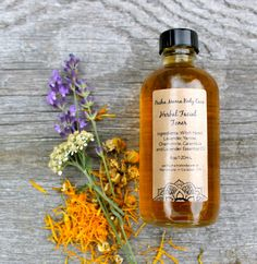 Herbal Facial Toner  Astringent  Skin Care  by PachaMamaBodyCare